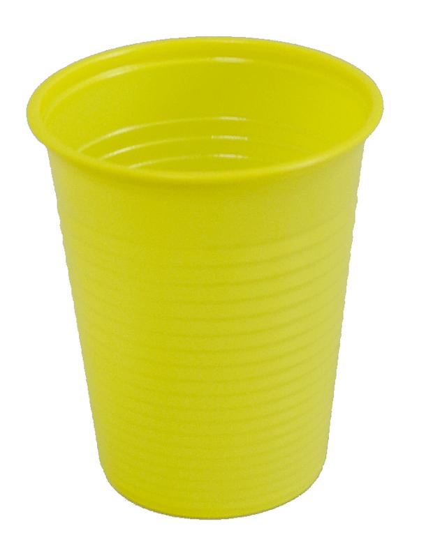 lot de 50 gobelets plastique jaune de 20cl d coration et accessoires pas cher pour organiser. Black Bedroom Furniture Sets. Home Design Ideas