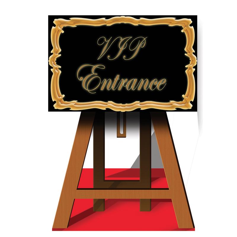 support chevalet geant vip de 116 cm d coration et accessoires pas cher pour organiser une. Black Bedroom Furniture Sets. Home Design Ideas