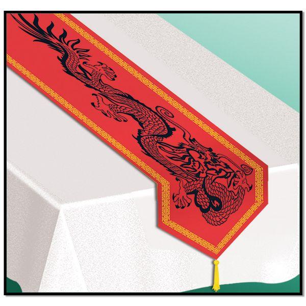 Chemin de table chinois et nappe d coration et for Nappe et chemin de table en papier