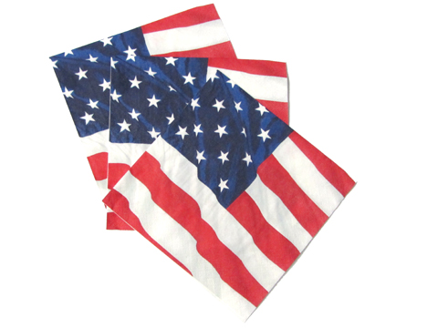 Serviette drapeau americain usa d coration et for Serviette en papier deco