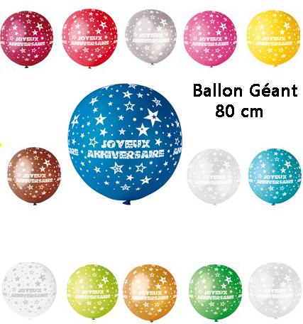 Ballon Joyeux Anniversaire Geant Decoration Et Accessoires Pas