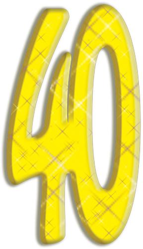 Chiffre geant 40 ans - Chiffre en carton 3d ...