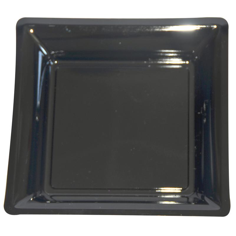 lot de 12 assiettes noir de 30 5cm carrees plastique. Black Bedroom Furniture Sets. Home Design Ideas