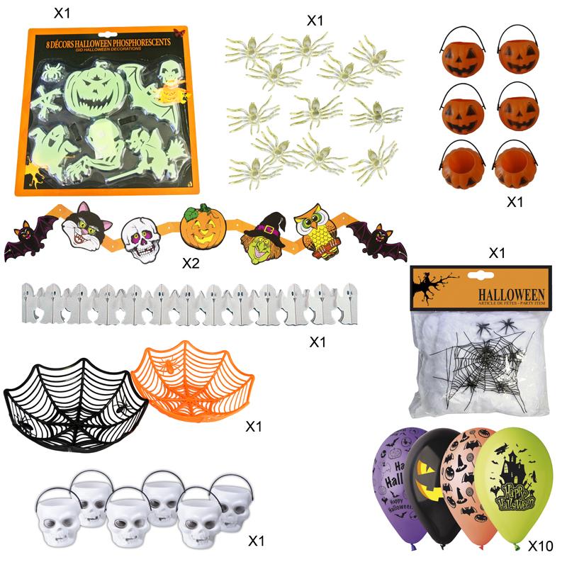Pack Deco Halloween Enfants Décoration Et Accessoires Pas Cher