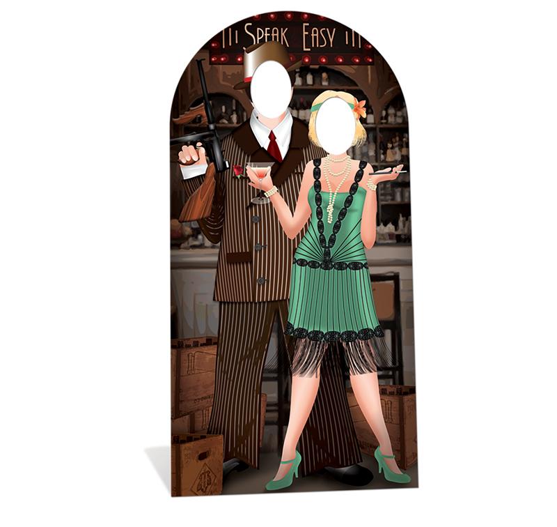 silhouette geante de couple des annees 20 d coration et accessoires pas cher pour organiser. Black Bedroom Furniture Sets. Home Design Ideas