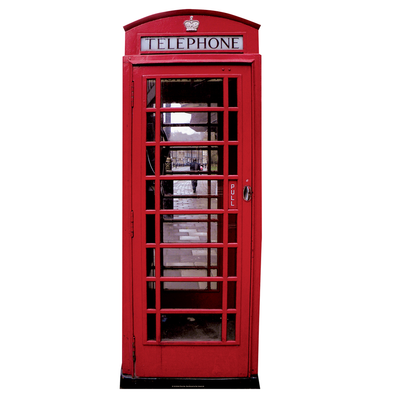 cabine telephonique anglaise deco en carton d coration et accessoires pas cher pour organiser. Black Bedroom Furniture Sets. Home Design Ideas