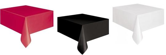 nappe plastique noire blanche rouge casino cabaret. Black Bedroom Furniture Sets. Home Design Ideas